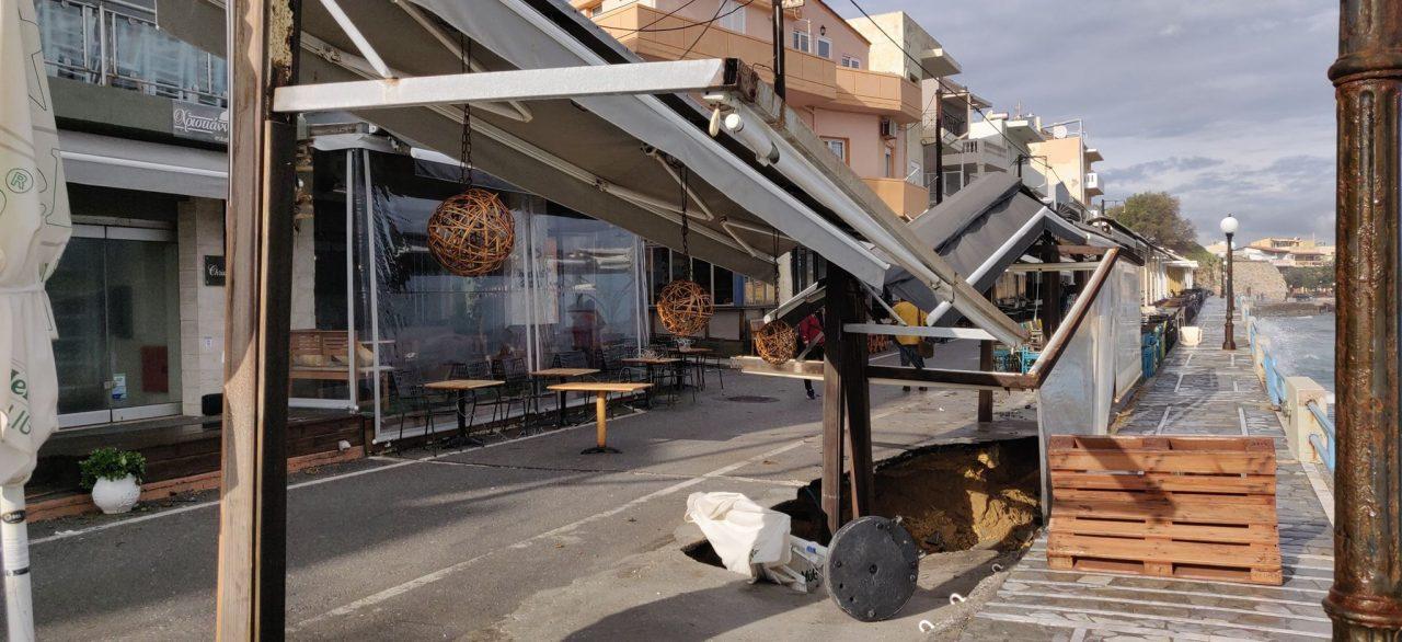 Άνοιξε τρύπα και «κατάπιε» καφετέρια στην Κρήτη!