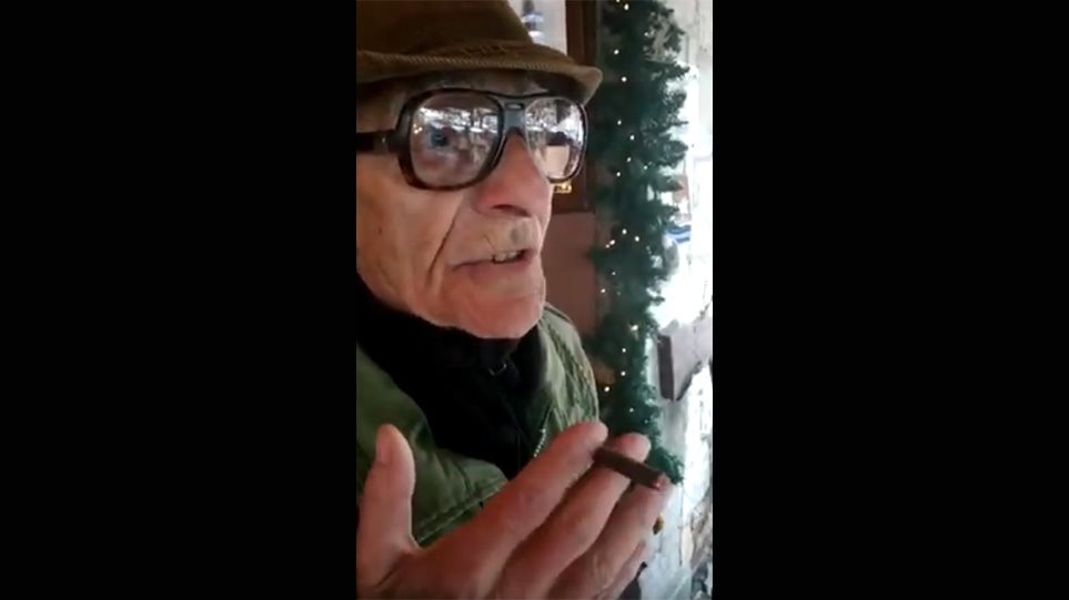 Αράχωβα: 86χρονος συνταξιούχος στα... χιόνια για να καπνίσει (ΒΙΝΤΕΟ)